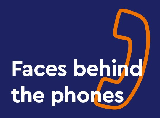 Faces behind the phones